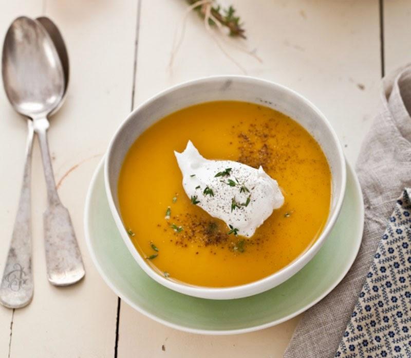 Fabuloso menú de otoño con recetas y productos de temporada: crema de boniato