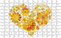 Heart from flowers puzzle