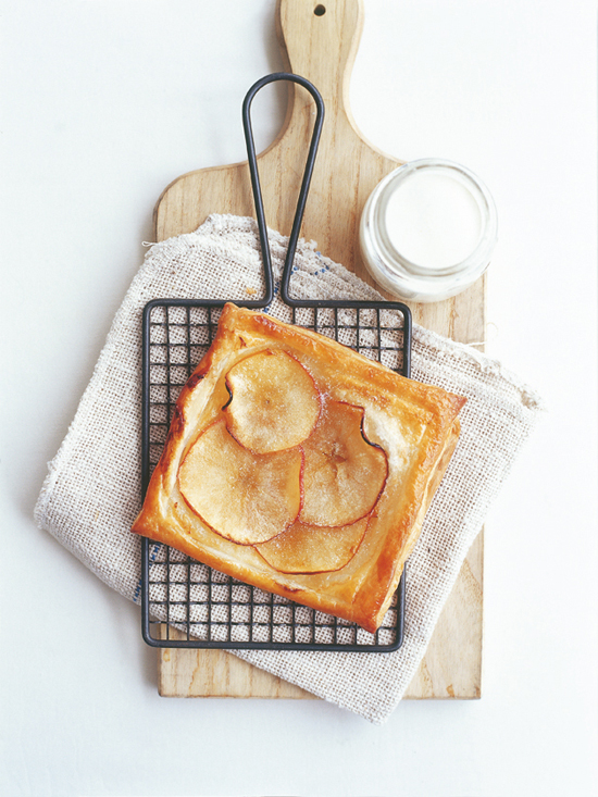 Easy apple tart recipe via donna hey