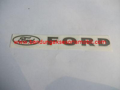 Emblem Alumunium 3M Besar Chrome Ford