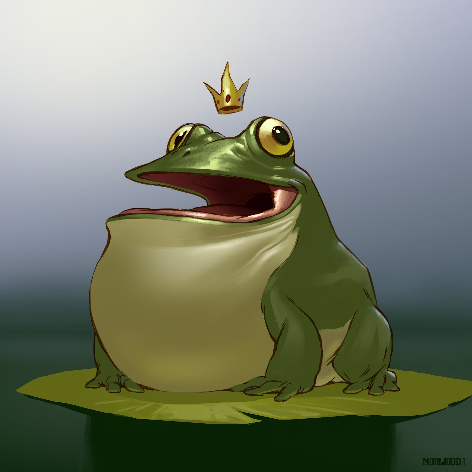 Chubby frog picture