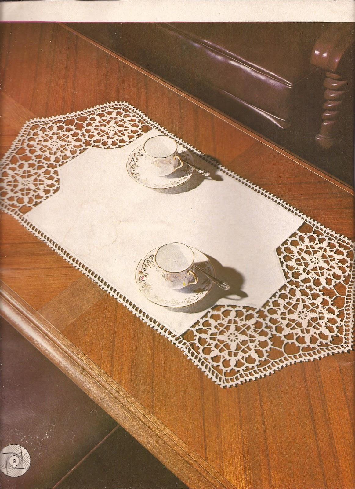 Patrones crochet caminos de mesa imagui for Caminos para mesas