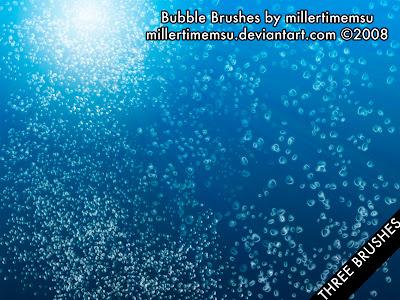3 pinceles de burbujas de agua