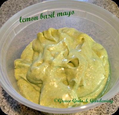 lemon basil mayonaisse