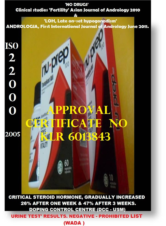ISO 22000 2005 Nu-Prep 100 ( Water Soluble Extract-Freeze Dried) patent US,EU longjack