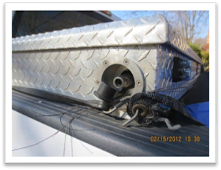 close-up of compressed natural gas fuel tank on supervisor truck