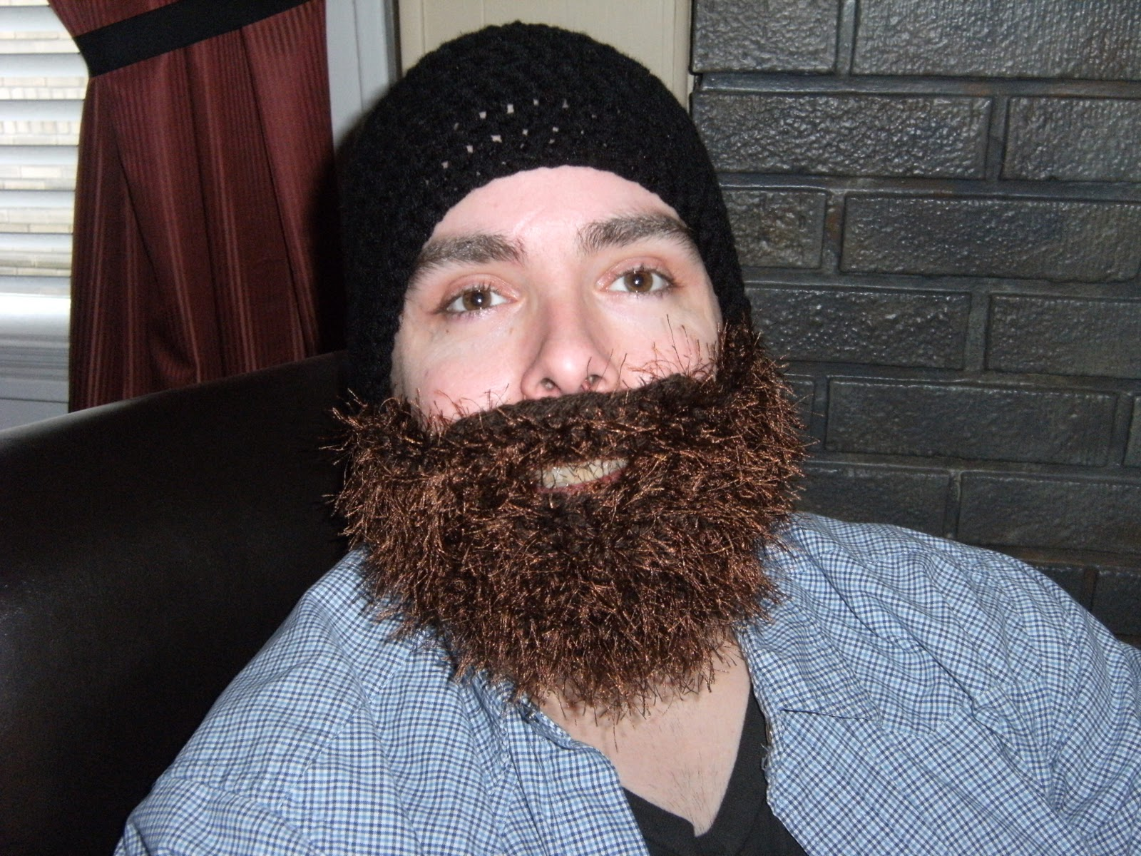Beanie Hat With Beard Crochet Pattern Free : Projects Around the House: Crochet Bearded Beanie