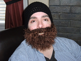 crochet bearded beanie