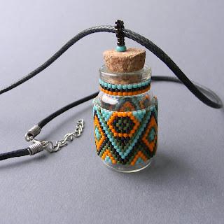 купить кулон подвеску с бутылочкой колбочкой стеклянной украина