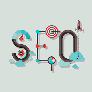 "The text, ""SEO"" created with gears, targets, links, and other tools used to investigate and experiment."