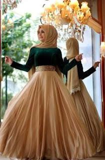 baju pesta muslimah big size