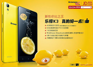 spesifikasi lenovo terbaru k3 lemon