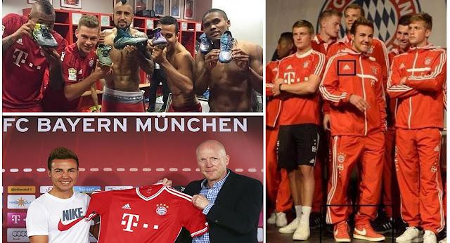 Nike siembra discordias entre Bayern Munich y adidas