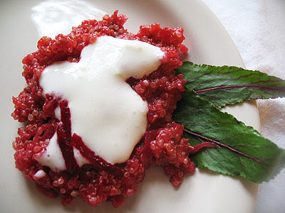 quinoa with beets