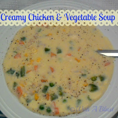 Creamy Chicken and Vegetable Soup ~ Hearty, warming Chicken & Vegetable Soup #Soups #ChickenSoup