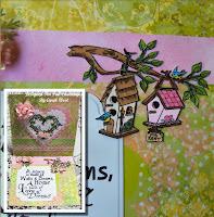 Card made using Home Tweet Home digital stamp