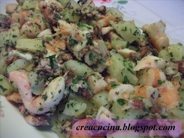 insalata di polipo e gamberetti