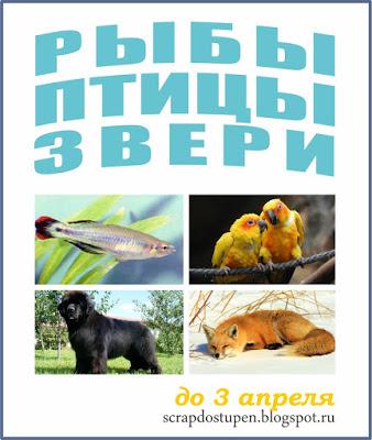"""+++Задание """"Рыбы, птицы, звери"""" до 03/04"""