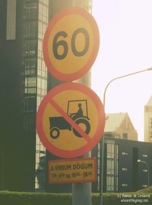 Дорожные знаки Рейкьявика