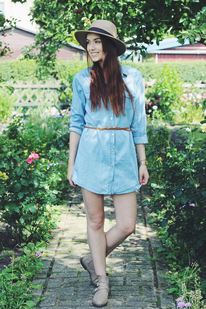 OOTD: Denim Dress