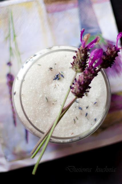 cukier lawendowy, cukier z lawendą, przepis na cukier lawendowy, sugar lavender recipe