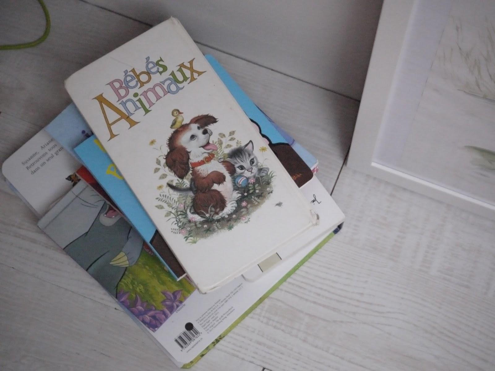 livre bébé vintage animaux