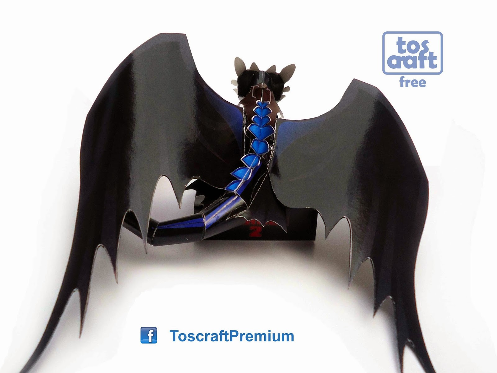 Tos-craft: TOOTHLESS (How to Train Your Dragon 2) Papercraft