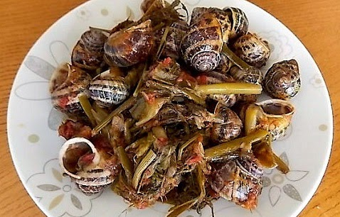 Snails with potatoes and fennel, Mediterranean Diet, The Cretan Diet,