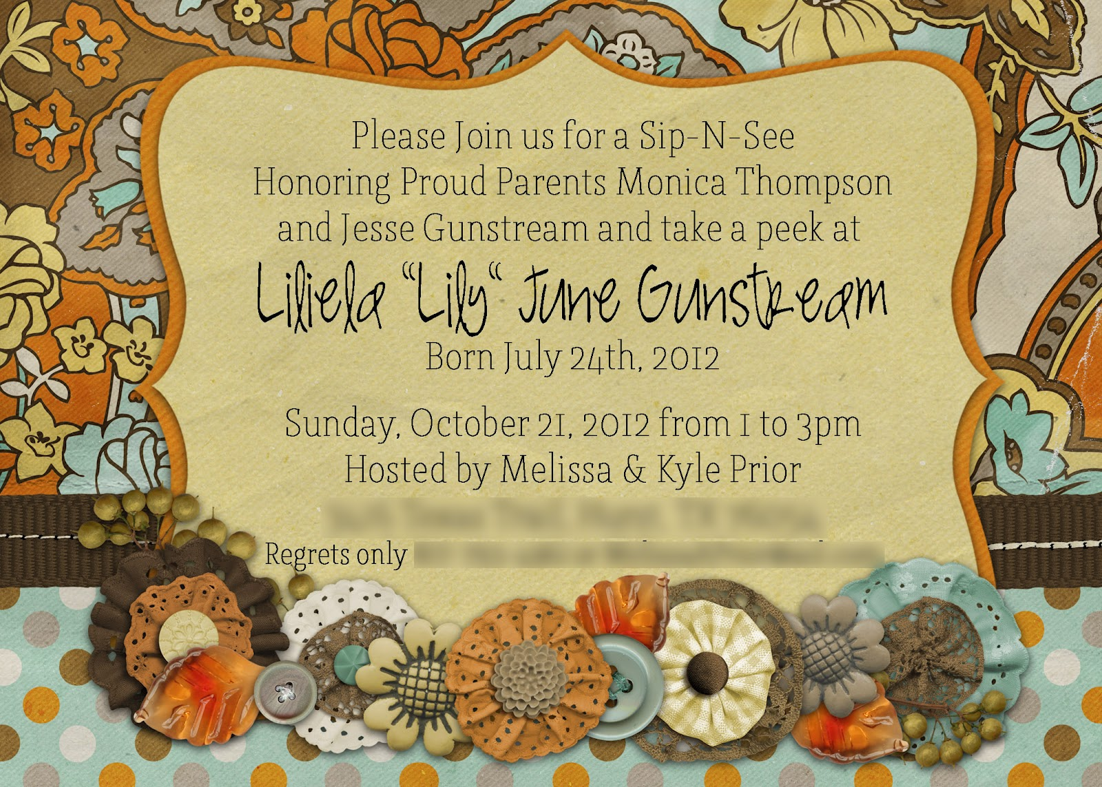 Slightly Askew Designs Fall SipNSee - Fall baby shower invitation templates