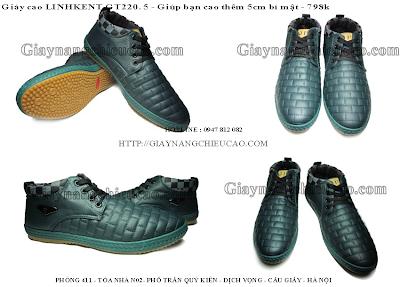 Giày nam cao Linh Kent GT220. 5
