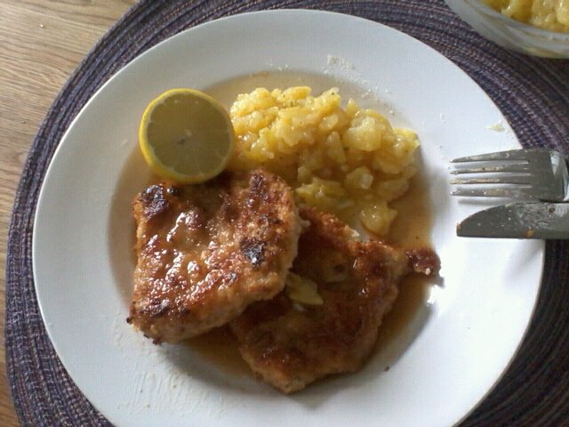 ... homemade homemade pork schnitzel was the pork schnitzel pork schnitzel