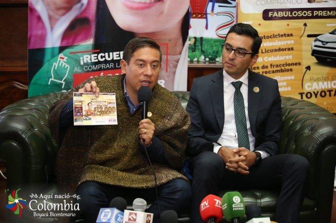 """Colombia jugará el """"Sorteo Bicentenario"""" de la Lotería de Boyacá"""