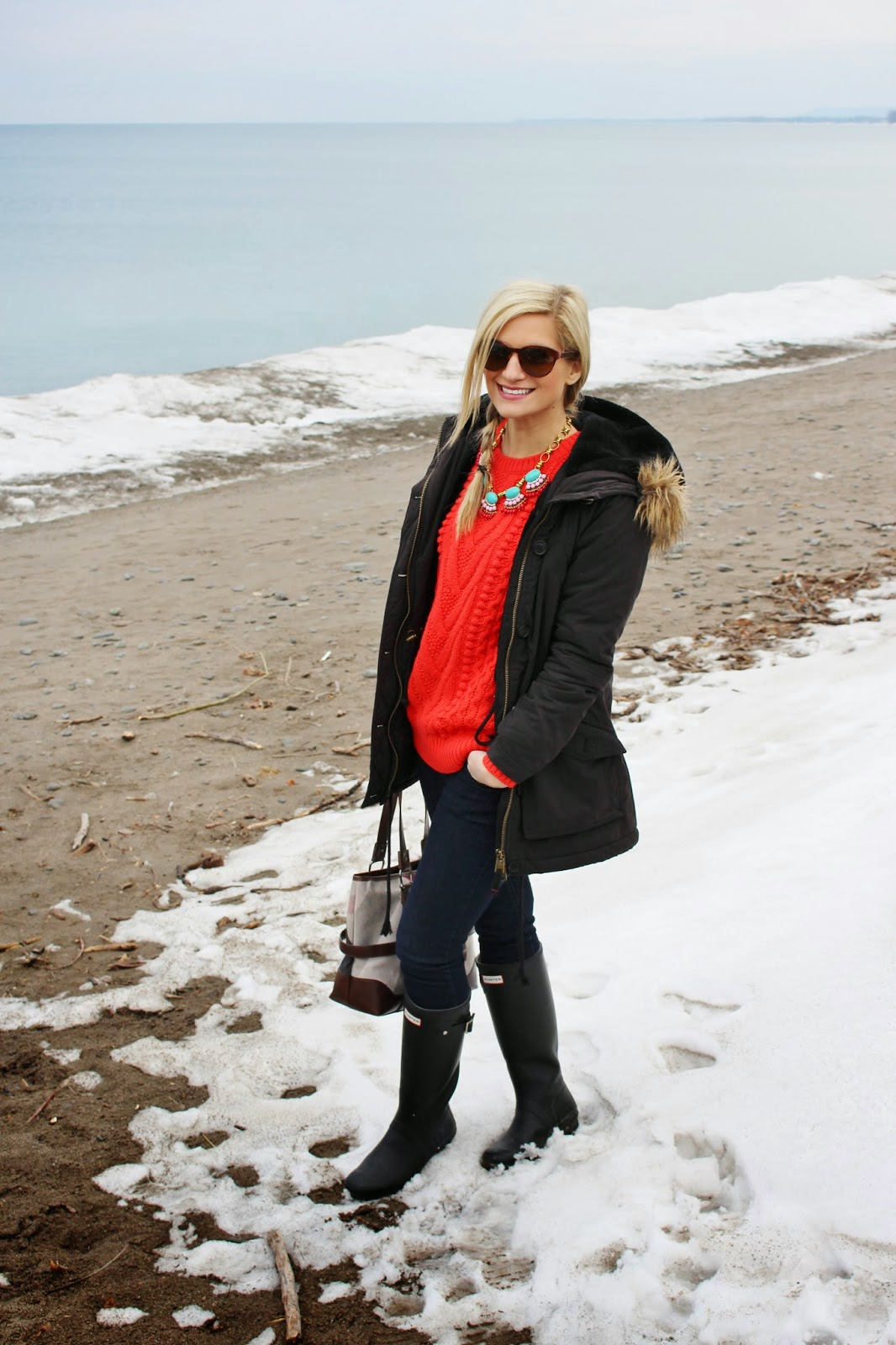 bijuleni - parka coat and jeans
