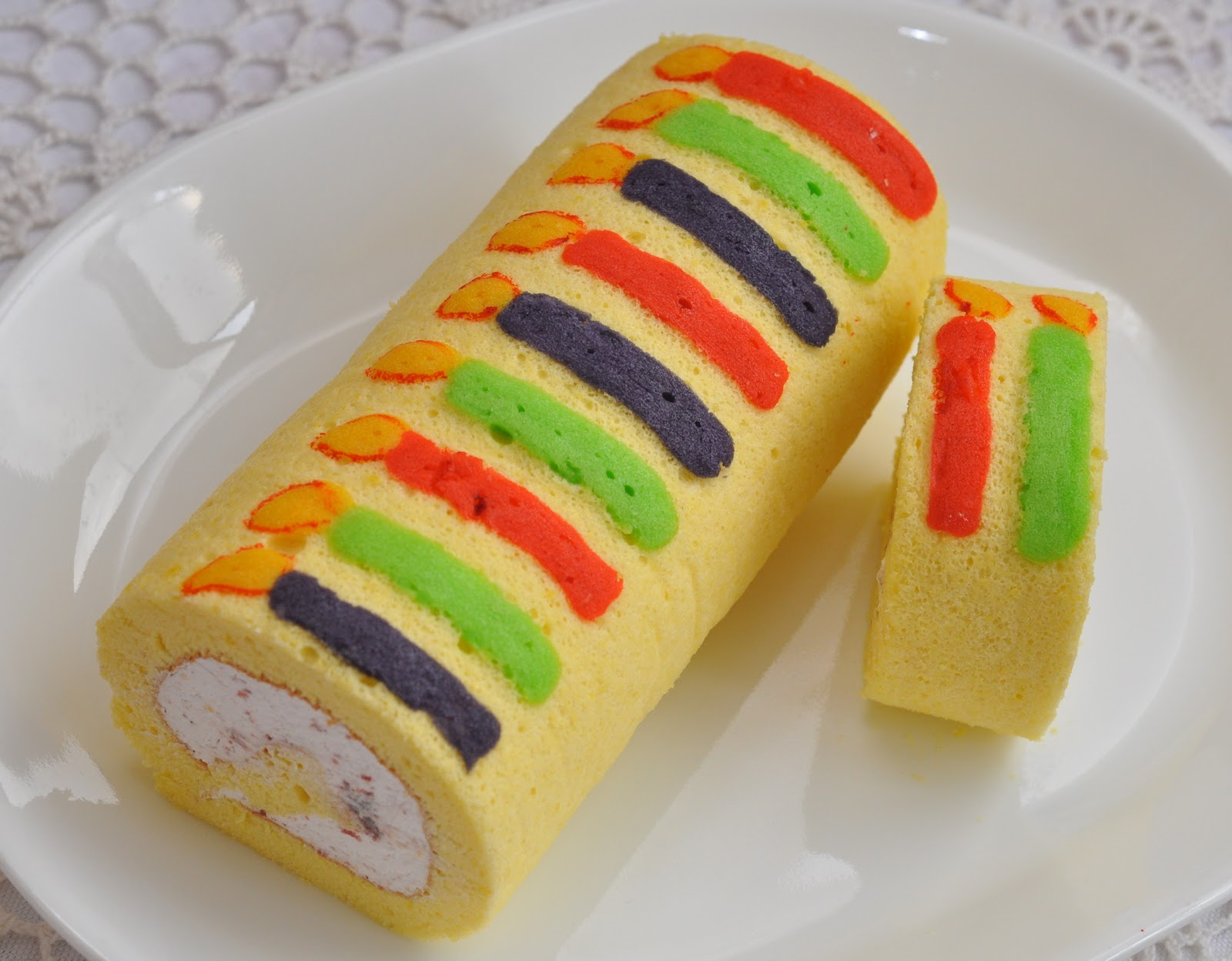 Roll Cake Design Recipe : Veronica s Kitchen: Cranberry Swiss Roll