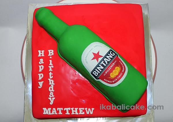 IKA Bali Cake Bintang Beer Bottle