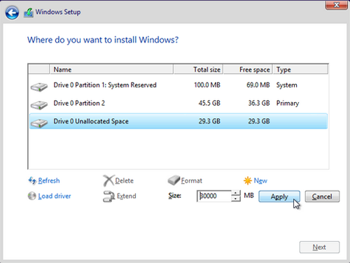 Cara membuat partisi windows saat proeses installasi 3