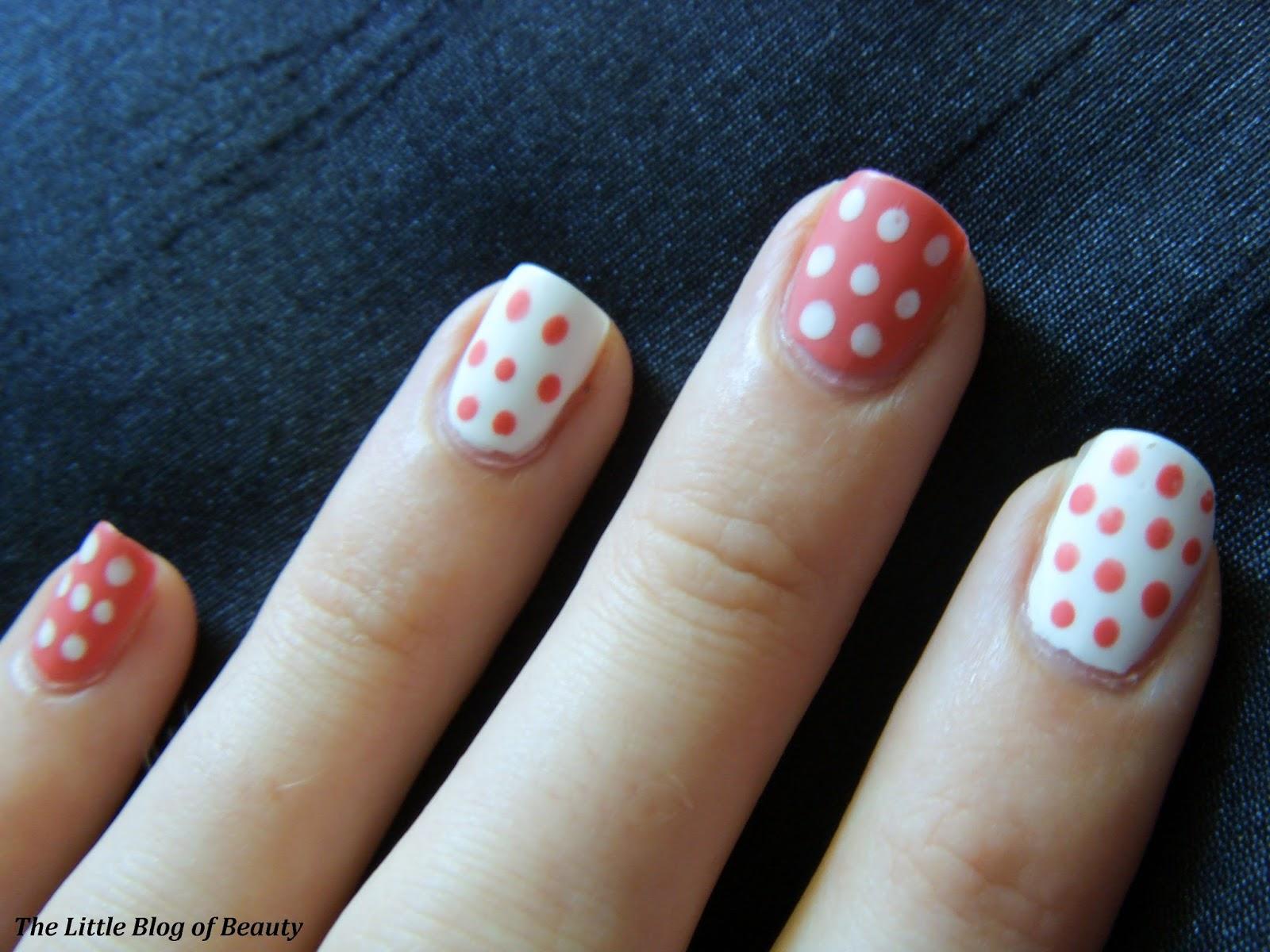 Nail art - Matte reverse dots | The Little Blog of Beauty