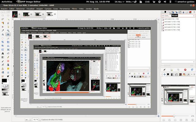 Screenshot demonstrando o processo de filtragem pelas etiquetas.