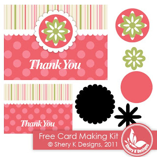 Free Svg, Printable Thank You Making Card Kit