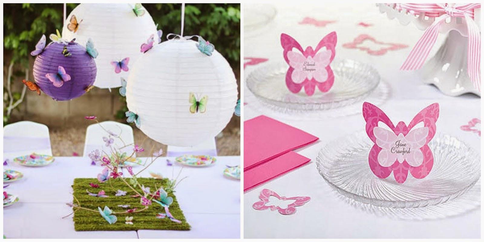 decoracin de cumpleaos con mariposas