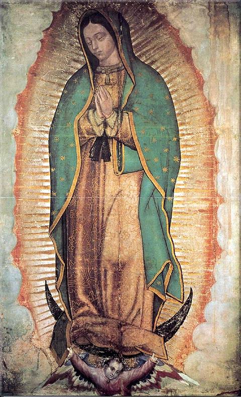 Imágenes de la Virgen de Guadalupe para dibujar