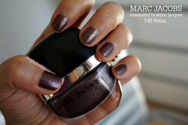 MARC JACOBS BEAUTY Enamored Hi-Shine Nail Lacquer, 140 Petra, review, swatch