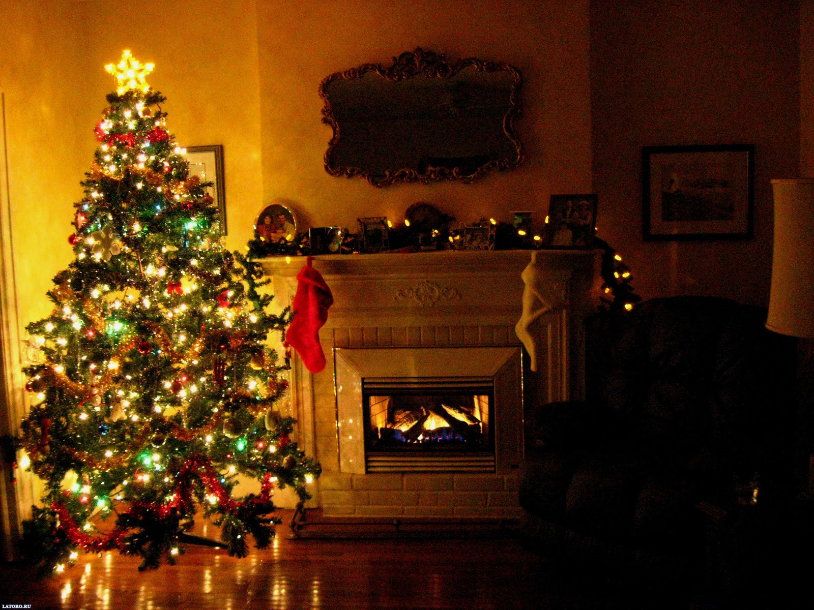 Christmas Fireplace Background Images Pictures Becuo