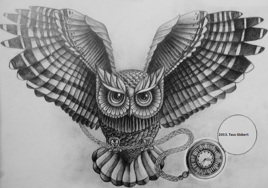 Dibujos de buhos a lapiz - Imagui