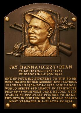 Hall of Fame Spotlight - Dizzy Dean  Dean+Dizzy+Plaque_NBL_0