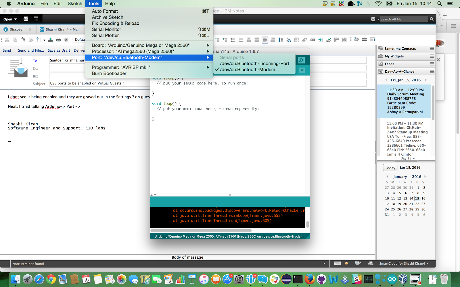 Cygwin controlling a led from arduino my mac os