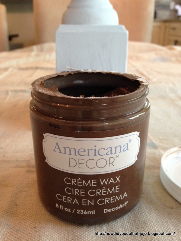 Howd You Do That AMERICANA DECOR CREME WAX WEBSTERS