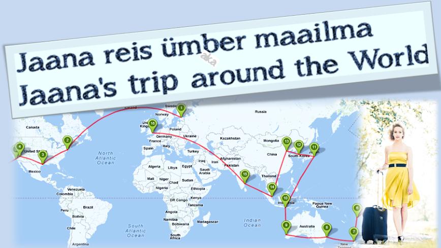Jaana reis ümber maailma ehk Jaana's trip around the World