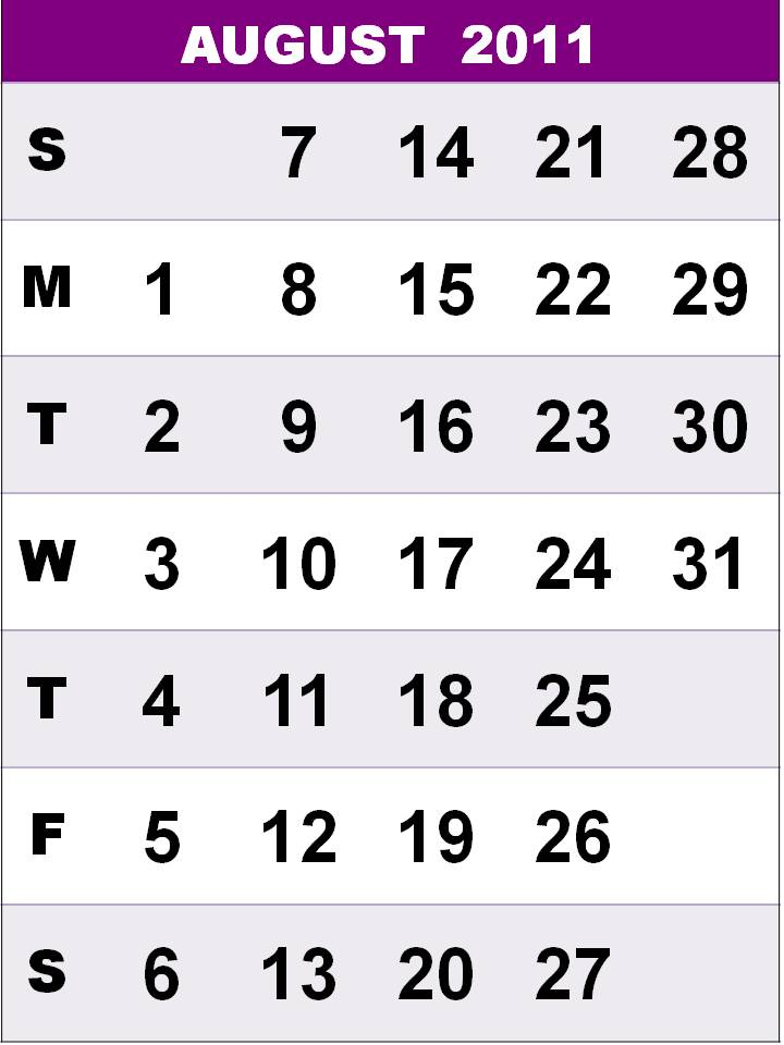 blank calendar 2011 august. lank calendar 2011 august.