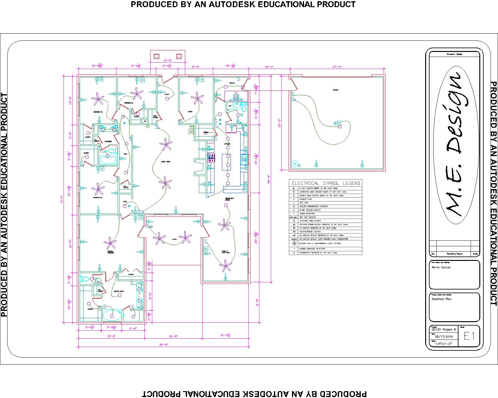 Marie escue floorplan electrical plan architectual drawing for Electrical plan drawing
